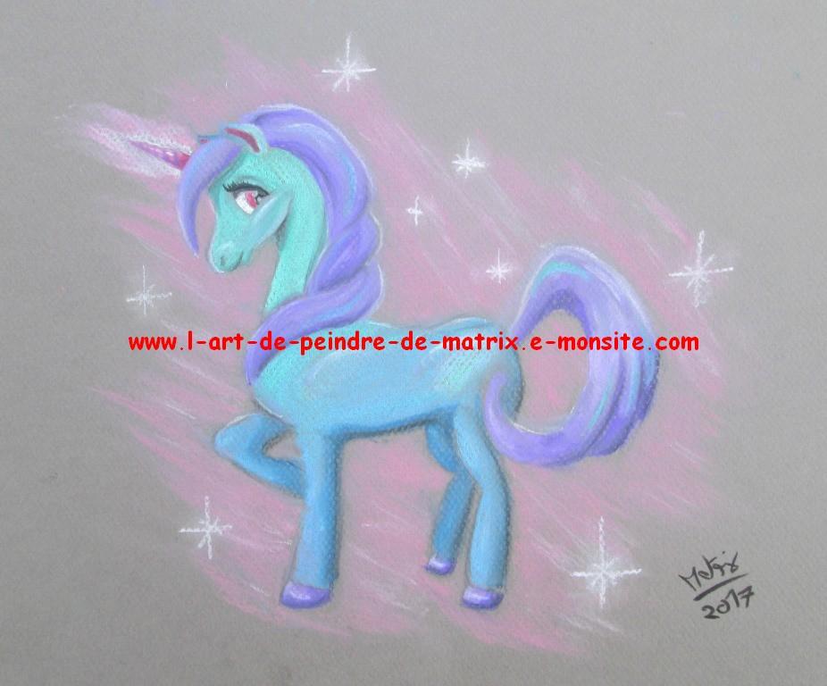 licorne bleue